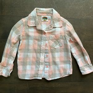Bass pro shops toddler girls 2T pink plaid flannel